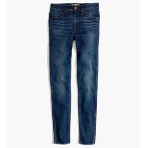"Madewell 9""  Mid-Rise Raw Hem Skinny Jeans"